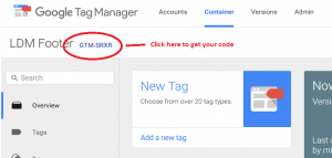 Finding Your Google Tag Manager Code